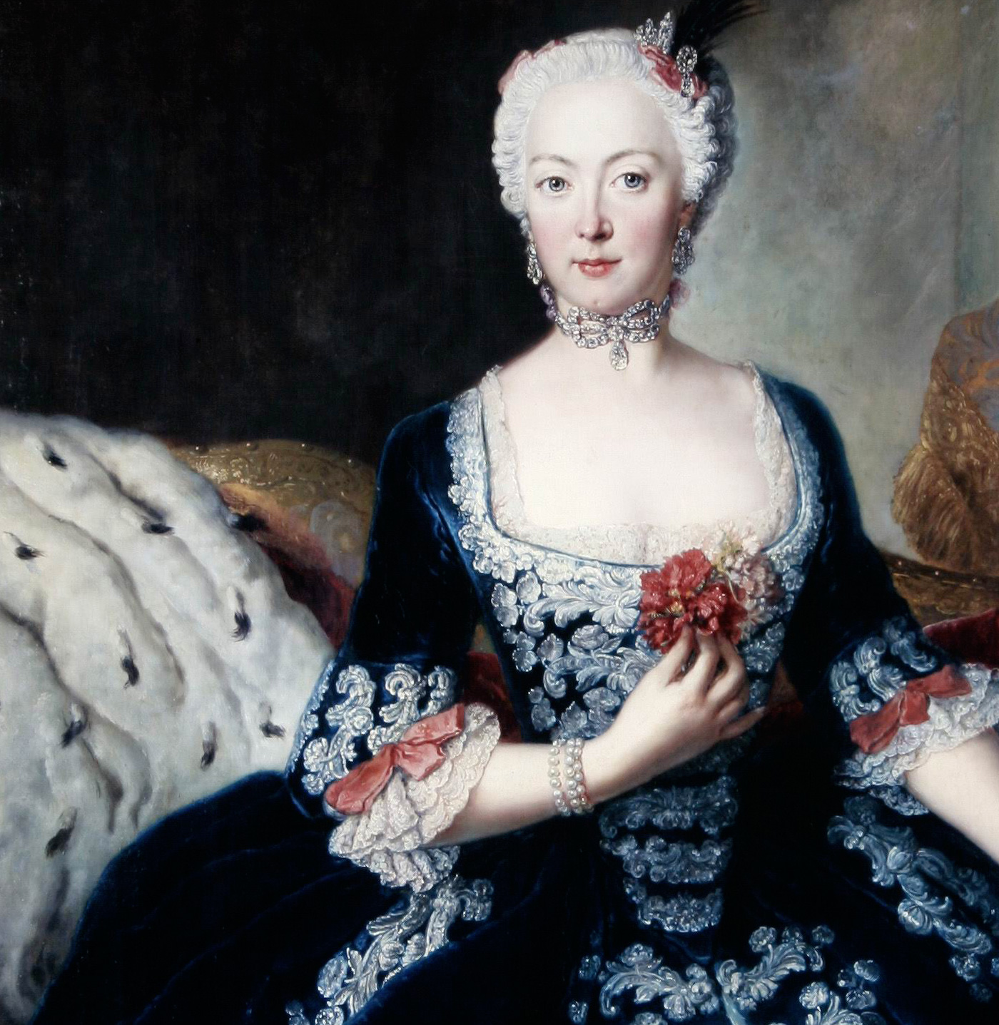Reconstructions of 18th century court gowns.